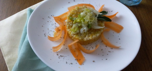 Orzotto di carote e porri