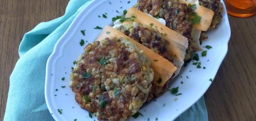 Burger vegetariani di orzo e lenticchie