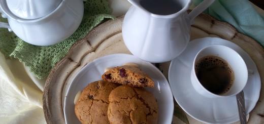 Biscottoni soffici di mais, riso e mirtilli rossi senza glutine e senza lievito chimico