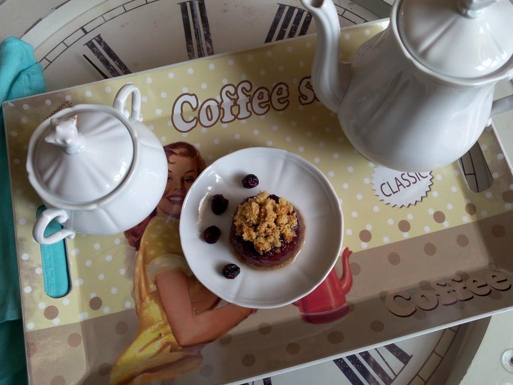 gelatina di tè ai frutti rossi